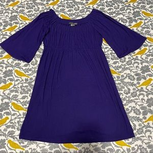 Muse Boston Proper Purple Scoop Neck Dress EUC 12